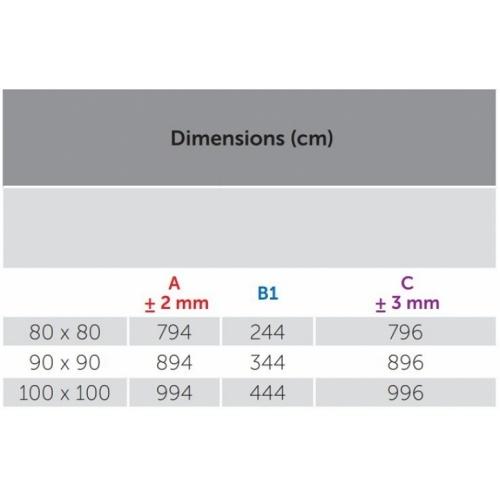 Receveur de douche 1/4 cercle New Victory 80 x 80 cm Blanc - Bord 4.5 cm 5 cm