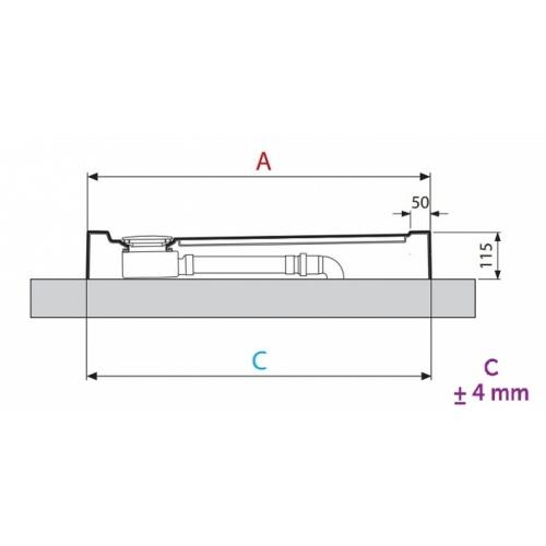 Receveur de douche 1/4 cercle New Victory 80 x 80 cm Blanc - Bord 11.5 cm 5 cm profil