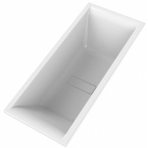 Baignoire rectangulaire double dos MAESTRO - AQUARINE Baignoire rectangle double dos 180x80cm maestro 208718 vdd oblique bd