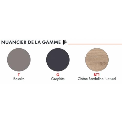 Meuble DECO-CLIP Graphite + Évier à poser SINOPE en inox Nuancier deco clip