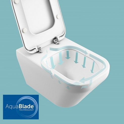 Pack WC Cube Connect Air - SH - Alimentation latérale - E142301 Aquablade is