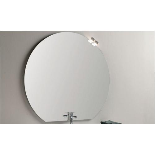 Meuble simple vasque PARIGI 121 cm - Tranche Grigio - Compo 10 Miroir cercle 3650