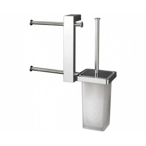 Barre avec double porte-papier et brosse WC G.Bridge - 7640