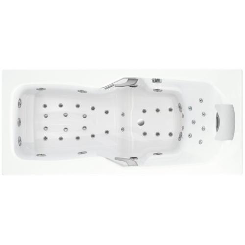 Baignoire balnéo massage professionnel KINEPLUS 170x75 cm - Tête à Droite Kineplue vue dessus tête à droite