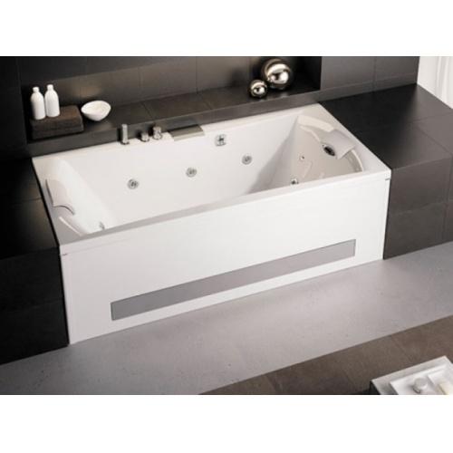 Baignoire balnéo Pure Design 170x75 - DETENTE - Tête à Droite Pure design double tete 190 tablier bi matieres tête à droite