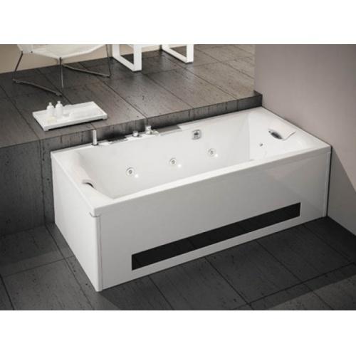 Baignoire balnéo Pure Design 170x75 - DETENTE - Tête à Droite Pure design double tete 200 tablier bi matieres tête à droite