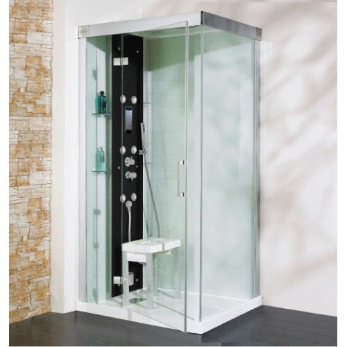 Cabine de douche Kineform Hydro+Hammam Carré 90 cm - Perle Noire