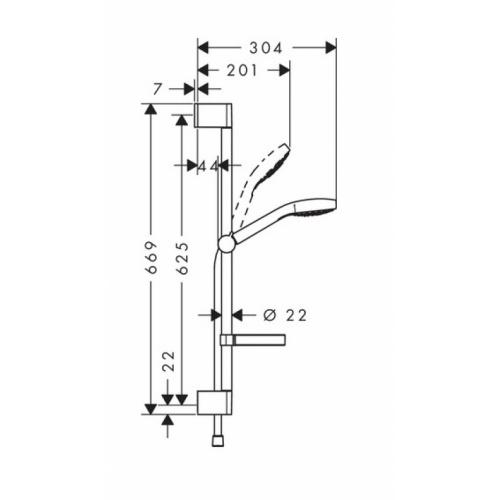 Set Croma Select S 110 Vario avec porte-savon - 26566400* 18 hmg00653 eps