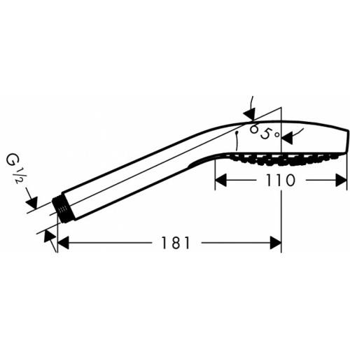 Set Croma Select S 110 Vario avec porte-savon - 26566400* Douchette croma select s110 26802400 plan technique
