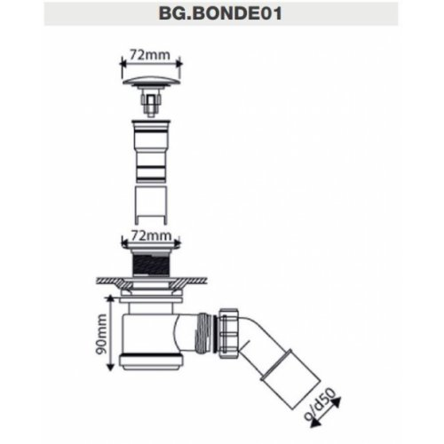 Baignoire ilôt Design CEDAM 180x75 Amon Bonde01