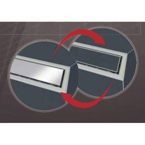 Caniveau de sol à carreler Venisio expert 700 mm - 30720833* Venisio expert grille reversible