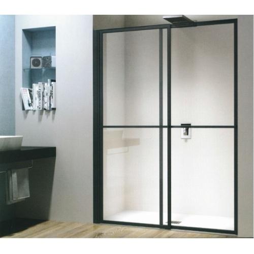 Porte coulissante et pivotante SECURE Noir mat - L120 cm