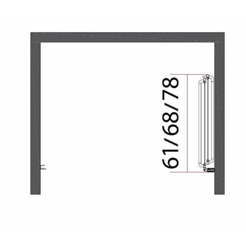 Porte coulissante et pivotante SECURE Noir mat - L120 cm Secure jacuzzi repliée côtes