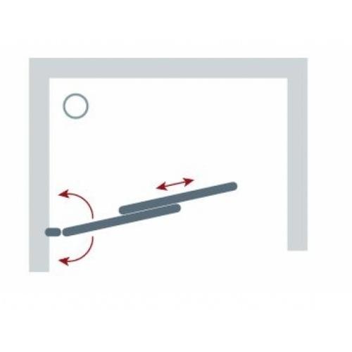 Porte coulissante et pivotante SECURE Noir mat - L120 cm Secure jacuzzi schéma