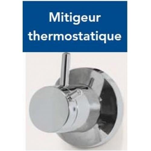 Cabine de douche CARAT 120x80 cm Thermostatique - Version Droite Mitigeur thermostatique