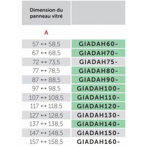 Paroi fixe GIADA H 60 cm - Transparent - Silver Giada h dimensions