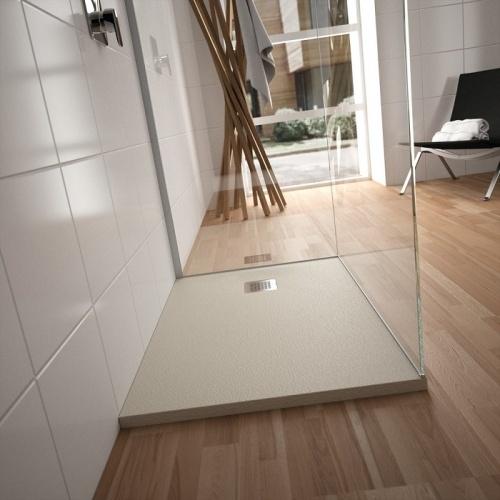 Receveur de douche Ultra Flat S - Noir Intense - 100x70 cm Idealstandard ultraflats ambiance beige sable