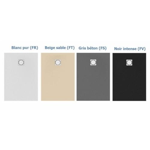 Receveur de douche Ultra Flat S - Noir Intense - 100x70 cm Gamme de couleur ultra flat s