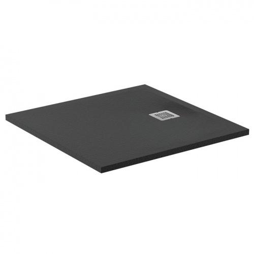Receveur de douche Ultra Flat S - Noir Intense - 80x80 cm
