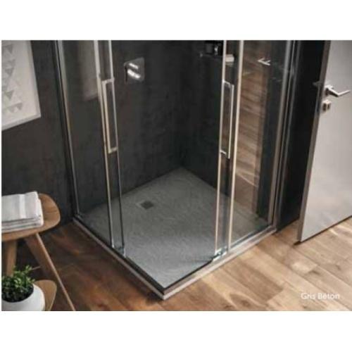 Receveur de douche Ultra Flat S - Beige Sable - 80x80 cm Is ultra flat s carré gris béton