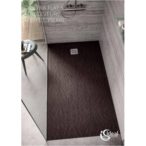 Receveur de douche Ultra Flat S - Noir Intense - 100x70 cm Is ultra flats ambiance