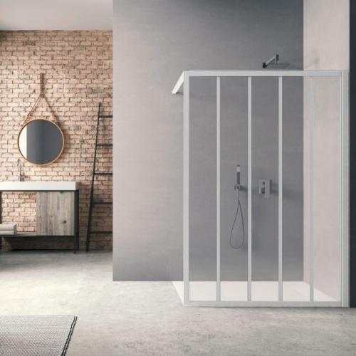 Paroi de douche LOFT Classic Blanc 100 cm - Verre Clair traité
