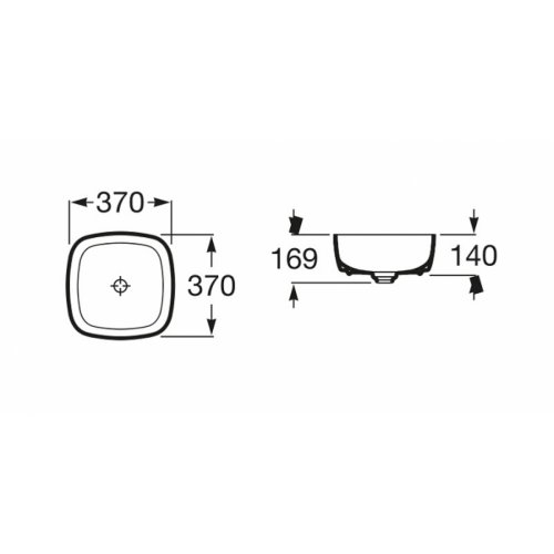 Vasque à poser INSPIRA Soft A327502000