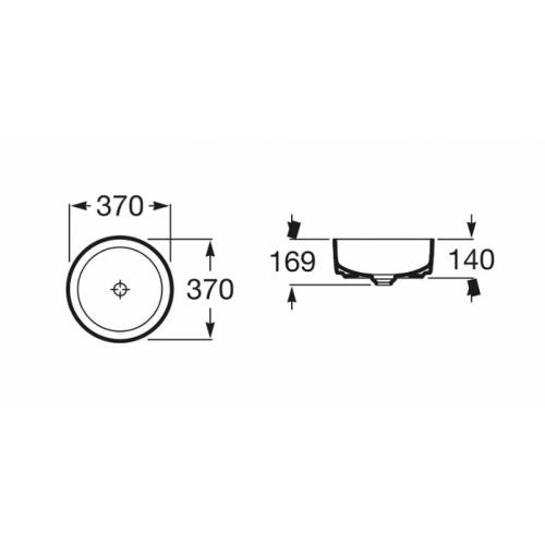 Vasque à poser INSPIRA Round A327523000