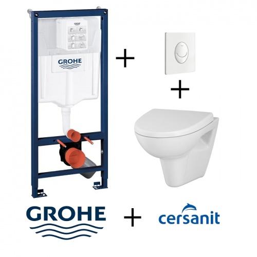 Pack WC Grohé Rapid SL Mural + Cuvette VELVET + Plaque Blanche Pack wc grohe skateair velvet