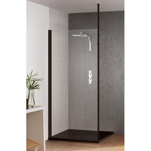 paroi de douche fixe kinespace solo noir 70 cm m t sol plafond. Black Bedroom Furniture Sets. Home Design Ideas