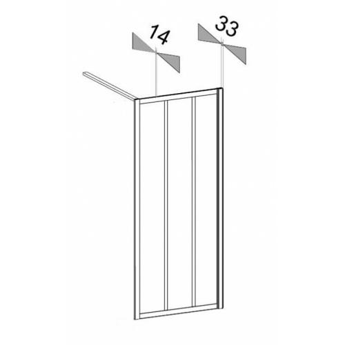 Paroi de douche LOFT Classic 100 cm - Verre Clair - JACUZZI Epaisseur profilés gamme loft
