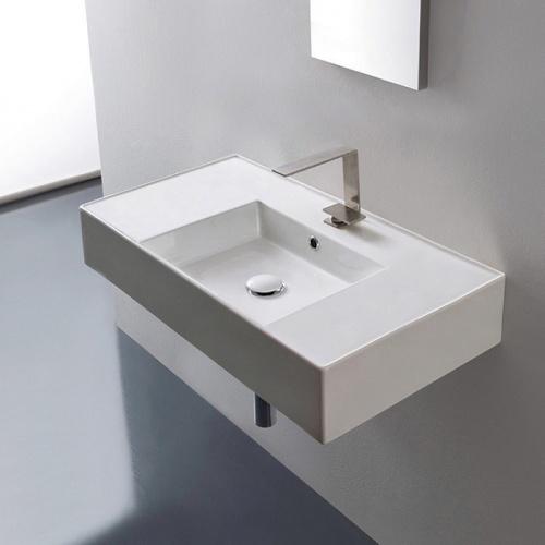 Vasque à poser ou à suspendre TEOREMA 2.0 80 cm - Vasque centrée Scarabeo 5123 1