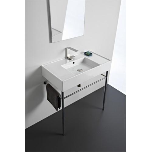 Vasque à poser ou à suspendre TEOREMA 2.0 80 cm - Vasque centrée 0 5123