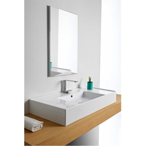 Vasque à poser ou à suspendre TEOREMA 2.0 80 cm - Vasque centrée 0 5124