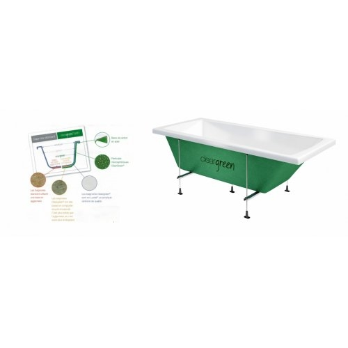 Baignoire rectangulaire VERDE Cleargreen 160x75 cm Cleargreen