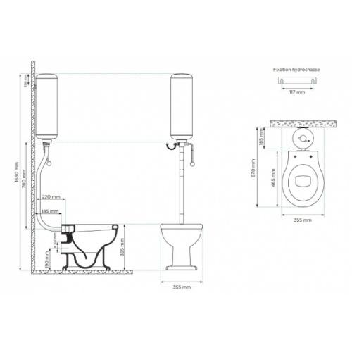 Ensemble complet sanitaire Griffon - Cuvette au sol Schéma pack griffon