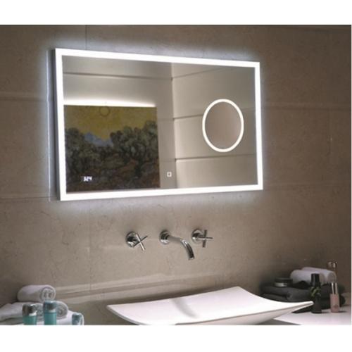 Meuble double vasque BIZ 120 cm Gris Brillant + Miroir Lite Amb eli 117