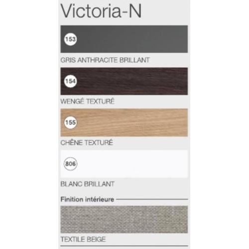 Meuble simple vasque Victoria-N Gris Anthracite brillant - 60 cm Coloris victoria n