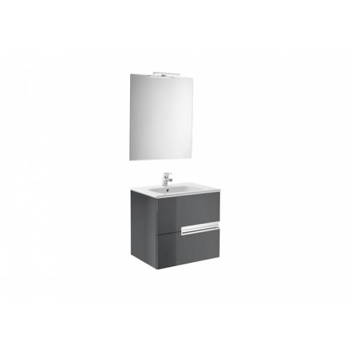 Meuble simple vasque Victoria-N Gris Anthracite brillant - 60 cm