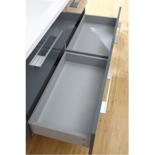 Meuble double vasque SATURN 140 cm Gris Brillant* Infinity neo gris macadam 140 (3)