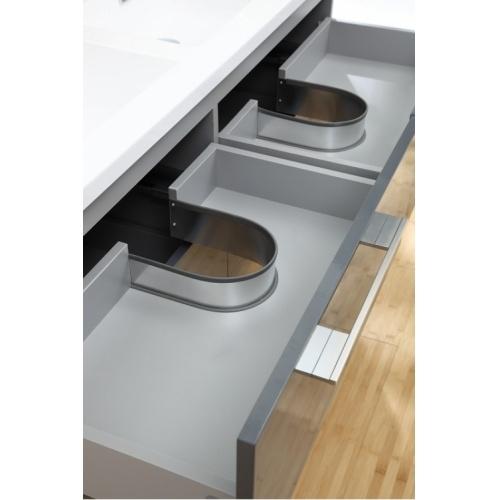 Meuble double vasque SATURN 140 cm Gris Brillant* Infinity neo gris macadam 140 (4)