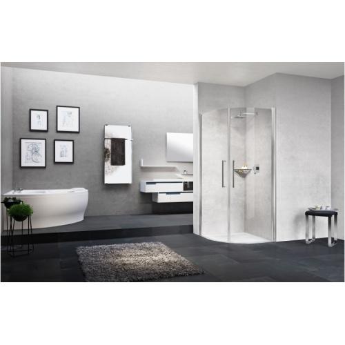paroi de douche 1 4 de rond young 2 0 r2 lux 80x80 cm. Black Bedroom Furniture Sets. Home Design Ideas