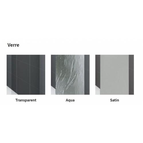 Paroi de douche 1/4 de rond YOUNG 2.0 R2 LUX - Transparent - Silver - 80x80 cm 0