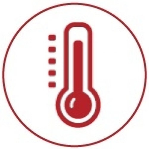 Baignoire Balneo MyWay Jacuzzi gauche 170x75 avec vidage + Réchauffeur* Picto-thermometre