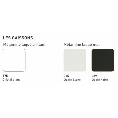 Meuble double vasque HARMONIE - Opale noire et Origine Chêne Brut Coloris Caisson HARMONIE