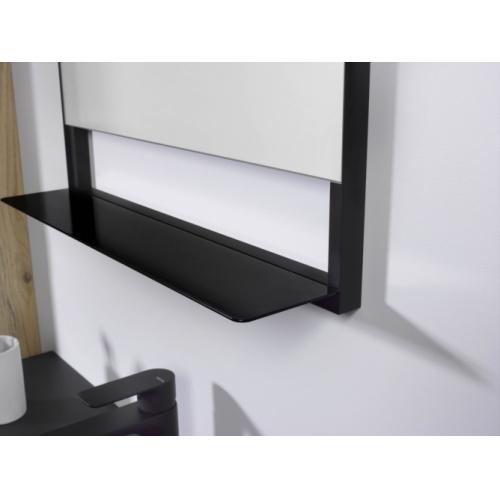 Meuble simple vasque FABRIK 104 cm Origine Chêne brut Miroir Contour noir- Tablette