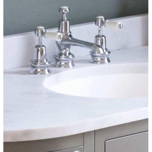 Meuble de salle de bain traditionnel simple vasque Olive Meuble Burligton Zoom