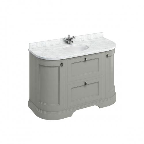 Meuble de salle de bain traditionnel simple vasque Olive FC4O_marble