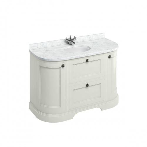 Meuble de salle de bain traditionnel simple vasque Olive FC4S_marble