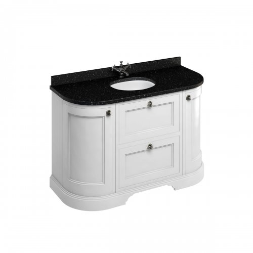 Meuble de salle de bain traditionnel simple vasque Olive FC4W_black